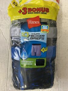 Hanes Boys Tagless Boxer Brief 10 Pack XL 18-20