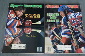 2 Sports Illustrated Wayne Gretzky Sportsman of the Year 1982-83 + 1984 Greater