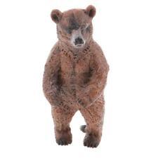 Realistic Standing Brown Bear Wild Animal Model Figure Figurine Kids Toy