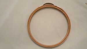 "VINTAGE 5"" PRINCESS WOODEN EMBROIDERY HOOP BOW SPRING ROUND"