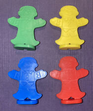Candyland Board Game Replacement Pieces 4 Tokens/Movers Gingerbread Men EUC 1999