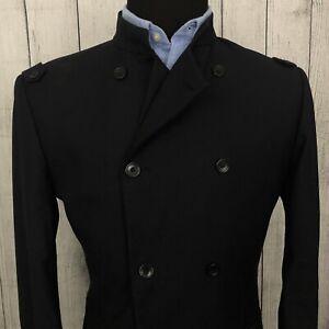 Rare 2009 Yohji Yamamoto Large Black Double Breasted Sports Coat Blazer Jacket