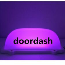 1 pcs 4 colors car doordash light LED Sign light with 3M line and Magnet base