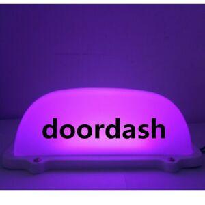1 pcs 4 colors car doordash light LED Sign light with 3M line and Magnet base