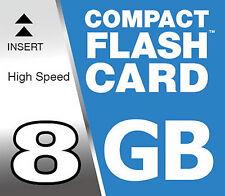 8GB Compactflash Tarjeta de Memoria Cf Compact Flash Mapa Cf para Nikon D700