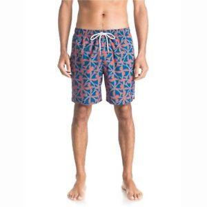 Quiksilver Fintastica Swim Trunks Red Ochre Mens Size XL New