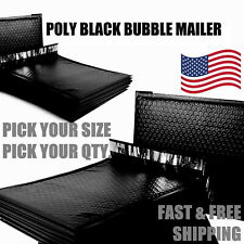 Black Poly Bubble Mailers Padded Envelope Protective Packaging Pouch Bags