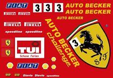 #3 AUTO BECKER Ferrari 1/25th - 1/24th Scale WATERSLIDE DECAL