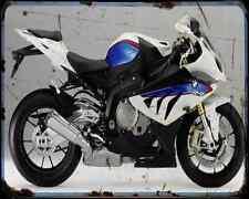 Bmw S 1000 Rr Ms 12 1 A4 Metal Sign Motorbike Vintage Aged