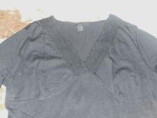 Damen Umstandsbluse Pullover Blusenshirt schwarz V-Ausschnitt Strickmuster Gr.40