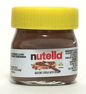 NUTELLA mini-jar YELLOW top shot-glass 1.05oz Made in Italy EASTER SPECIAL 2021
