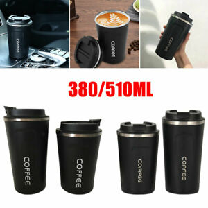 Leakproof Insulated Travel Coffee Mug Cup Thermal Stainless Steel Flask Vacuum