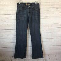 Kut from the Kloth Womens Sz 4 Flare Leg Jeans Back Pocket Flap Mid Rise 28x33