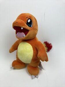 "Build A Bear Pokémon Charmander Plush Stuffed Orange with Sound Plush 16"" Read"