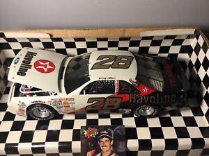 XRARE 1:18 Davey Allison #28 BLACK & WHITE HAVOLINE 1992 DieCast NASCAR W/ CARD!