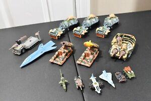 Kenner Mega Force V-Rocs Triax Lot Brimstone, XT Enforcer, Tar-Traks, Trident