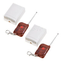 2sets 12v 1 Channel Wireless Remote Control Receiver Momentary Switch