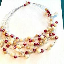 Collar de perlas cultivadas naturales con perlas y cierre de oro amarillo...