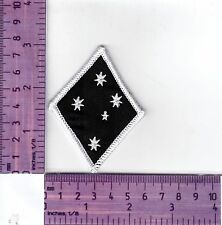 White Border Southern Cross Stars Diamond Bikers Embroidered Cloth Patch / Badge
