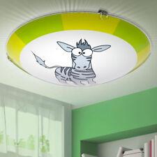 Applique Murale Plafonnier Verre Rond Chambre D'Enfants Zèbre Diamètre 25 Cm