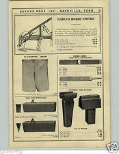 1927 PAPER AD 8 PG Blacksmith Tools Barcus Horse Stock Champion Hammer Iron City