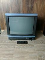 "*Local Pickup* Vintage Classic Sony 20"" Trinitron Color TV  KV-2094R  Blue Rare"