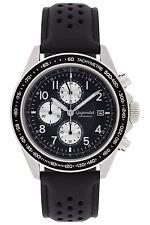 Gigandet Racetrack Herrenuhr Chronograph Datum Lederarmband Schwarz G24-006