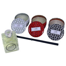 The UK Candle Company 3 x Tin Candles Reed Diffuser Gift Set