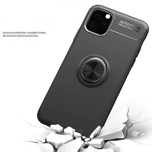 For iPhone 12 Pro Max Case New Ring Stand For Car Magnetic Bracket Cover XS 11