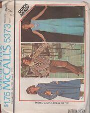 MCalls 5373 Vintage Misses Jumper - Dress or Top 3 Styles Size 10 - 12