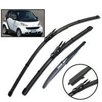 XUKEY Front Rear Windshield Wiper Blades Set For Smart ForTwo W451 Coupe 2007-14