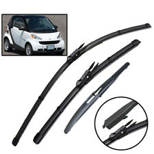 For Smart ForTwo W451 Coupe 2007-2014 Car Front Rear Windshield Wiper Blades Set