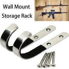 New Wall Mount Gun Rack Hooks Shotgun Bow Rifle Sword Hangers Stainless Steel