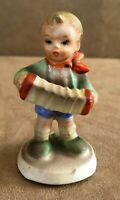 Vintage Made in Japan porcelain Hummel STYLE Figurine Boy playing accordion