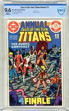 """Tales of New Teen Titans #3  ANNUAL  CBCS  9.6  NM+  White pgs 1984 """"Death"""" of T"""