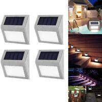 Stainless Steel LED Solar Light Outdoor Stairway Garden Wall Street Pathway Lamp