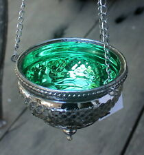 Moroccan Style  Hanging Tea light Candle Holder   ( GREEN )  BRAND NEW