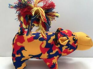 Pugslies Toys, Dog Puppy Interactive Squeaker Toy with Rope Tail. Pet supply.