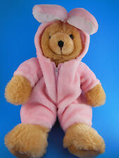 "Kids Of America 15"" Teddy Bear In Removable Easter Bunny Suit Outfit"
