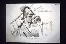 Incisione d'allegoria e satira Città sotto il giogo del Papa Don Pirlone 1851