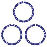 3 BEZEL INSERT ALUMINUM FOR ROLEX GMT WATCH 16700, 16710,16713, 16718,16760 BLUE