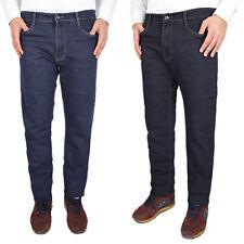Jeans Uomo Comodo Taglie Forti Elasticizzato Pantalone Caldo Cotone VEQUE
