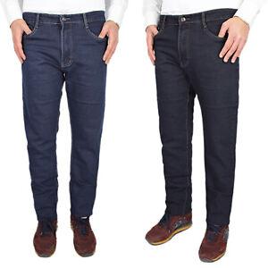 Jeans Uomo Comodo Taglie Forti Elasticizzato Pantaloni Invernali Regular VEQUE