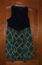 New Bisou Bisou Sz Medium Dress Sleeveless Black Vest Asymmetrical Hem Skirt