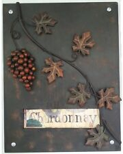 Home n Garden Metal Wall Art Wall Hanging 3D Chardonnay Grape Wine With Leaves