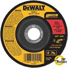 """Dewalt DW4514 4-1/2"""" X 1/4"""" X 7/8"""" HIGH PERFORMANCE METAL GRINDING WHEEL 5 pack"""