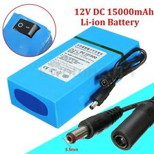 DC 12V 1800-20000mAh Rechargeable Protable Power Li-ion Battery For CCTV Camera