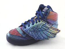 ADIDAS Jeremy Scott Rainbow Foil High Top Wings Shoes Q23650 US 8 EU 41 1/3 New
