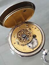 Montre Coq Oignon XIX ème LACROIX À MOREZ N° 22944  ,montre gousset en Argent