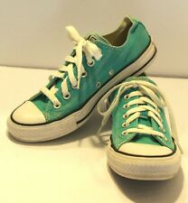 Converse All Star Chuck Taylor Low Top Sneakers Size 5 Men 7 Womens Jade/White